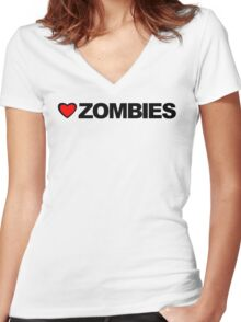 Love Zombies Women's Fitted V-Neck T-Shirt