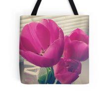 tender tulips flowers floral Tote Bag