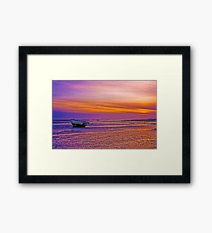 Lytham Sunset Framed Print
