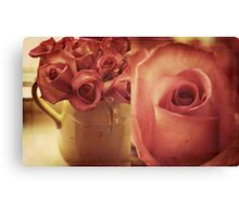 the roses in my bedroom Canvas Print