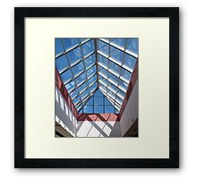 View from below the transparent roof of the glass Framed Print