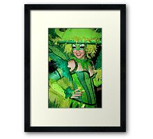 Wearing The Green Framed Print