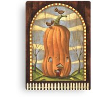 Pumpkin House Canvas Print