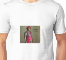 No Wave Feminist (blue and red dress) Unisex T-Shirt