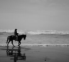 Horse Riding on the Beach by Jeff McArthur