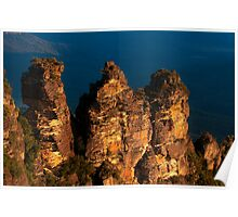 101229 Blue Mountains Three Sisters from Echo Point Poster