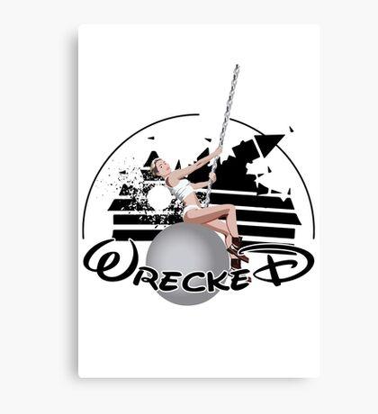 Miley Wrecked Disney Canvas Print