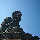 Buddha in Lantau - Shy Pose by Richie Wessen