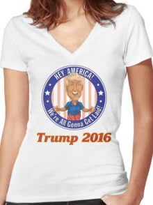 Trump 2016! Women's Fitted V-Neck T-Shirt