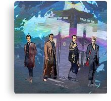 Doctor WHO - Four Re-Generations Canvas Print