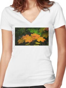 Revelstoke Fall  Women's Fitted V-Neck T-Shirt