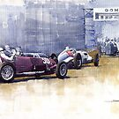 Italian GP Livorno 1937  by Yuriy Shevchuk