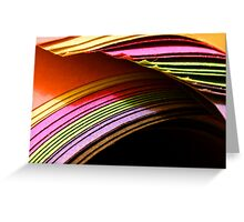 Coloured Paper Greeting Card