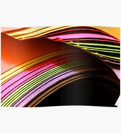 Coloured Paper Poster