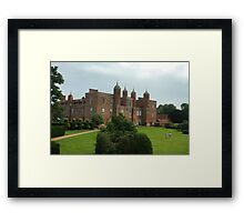 The south lawns at Long Melford hall Framed Print