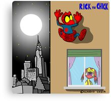 """Rick the chick """"SPIDER CHICK"""" Canvas Print"""