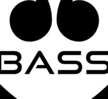 Bass in heart Sticker