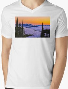Spring Summit sunset  Mens V-Neck T-Shirt