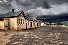 Heritage Listed Cooma Railway Station Carpark Side by DavidIori