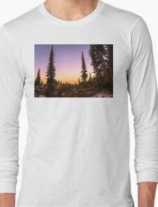 Summer sunset Revelstoke BC Long Sleeve T-Shirt