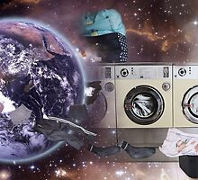 A Strange Occurrence At The Launderette by Andy  King Art
