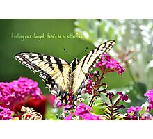If nothing ever changed...there'd be no butterflies. Photographic Print