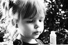 Little Girl Anticipating Fun With Bubbles by Evita