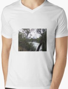 Goulburn River at Seymour Vic Australia Mens V-Neck T-Shirt