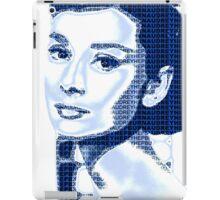 Audrey Hepburn Classic Portrait Blue  iPad Case/Skin