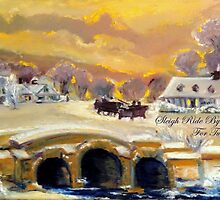Sleigh Ride By The Creek For Two by Helena Bebirian