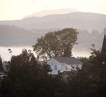 foggy sunrise over the Columbia River 4 by Dawna Morton