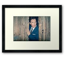 Cumberbatch is watching you Framed Print