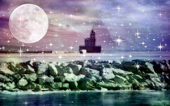 By the light of the moon ©  by Dawn M. Becker