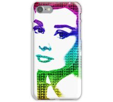 Audrey Hepburn Classic Portrait Multicolour  iPhone Case/Skin