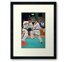 Punching Framed Print