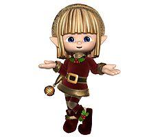 Cute Happy Toon Christmas Elf Photographic Print