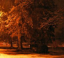 """""""A Snowy Evening in Knoxville"""" (a series, no.5) by © Bob Hall"""