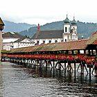 Chapel Bridge, Lucerne, Switzerland by Cindy Ritchie