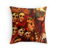 Masks of Carnival Throw Pillow
