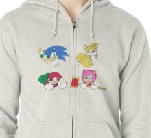 Team Sonic Zipped Hoodie