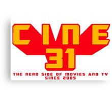 CINE31 - THE NERD SIDE OF MOVIES AND TV Canvas Print