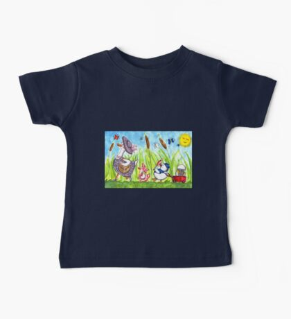 A Fancy Family of Ducks Baby Tee