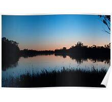 Dusk On The Mighty Murray River - South Australia Poster