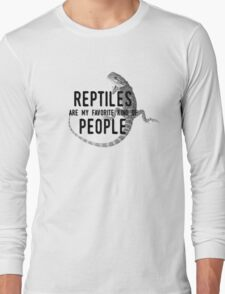 Reptiles Are My Favorite Kind of People Long Sleeve T-Shirt