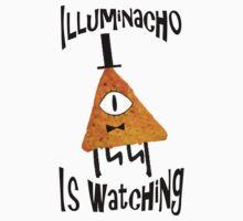 Bill Cipher Dorito Illuminacho Is Watching - Black by artsyfalcon46