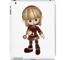 Cute Toon Christmas Elf iPad Case/Skin