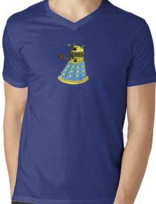 Blue Dalek Mens V-Neck T-Shirt