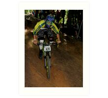Downhill Racing at Highland Mountain Bike Park Art Print