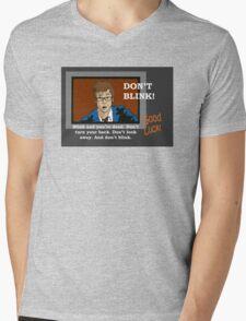 Doctor Who - Don't Blink Mens V-Neck T-Shirt