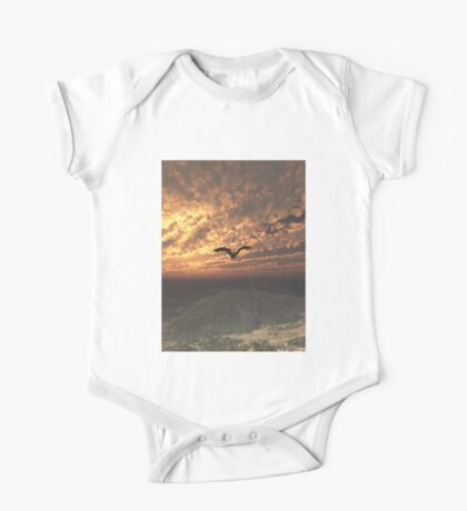 Dragon Flying at Sunset One Piece - Short Sleeve